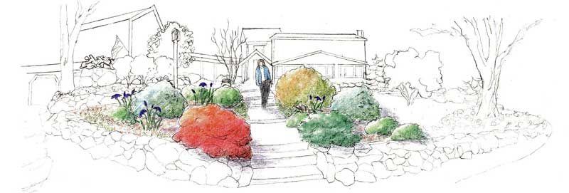 green velvet gardens garden illustration